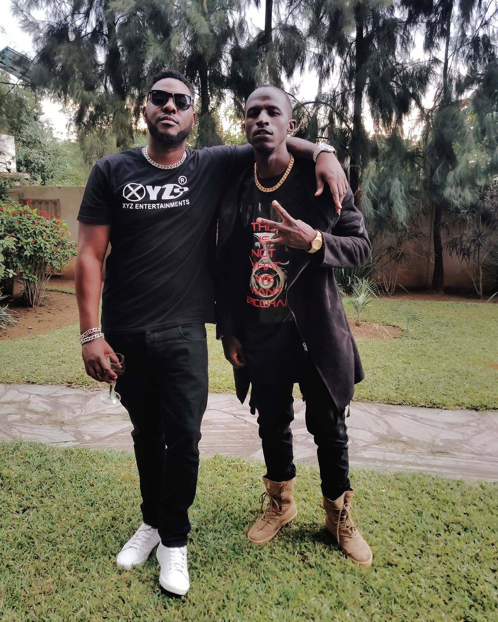 Fans React To Macky's Photo With Closest Rival Slap Dee